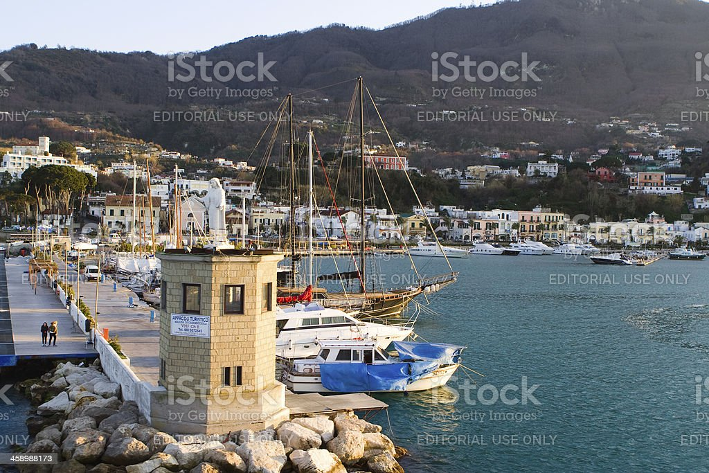Casamicciola, Ischia Island, Bay of Naples, Italy. royalty-free stock photo