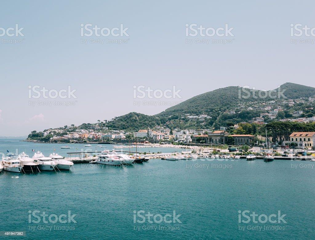 Casamicciola, Ischia Island, Bay of Naples, Italy stock photo