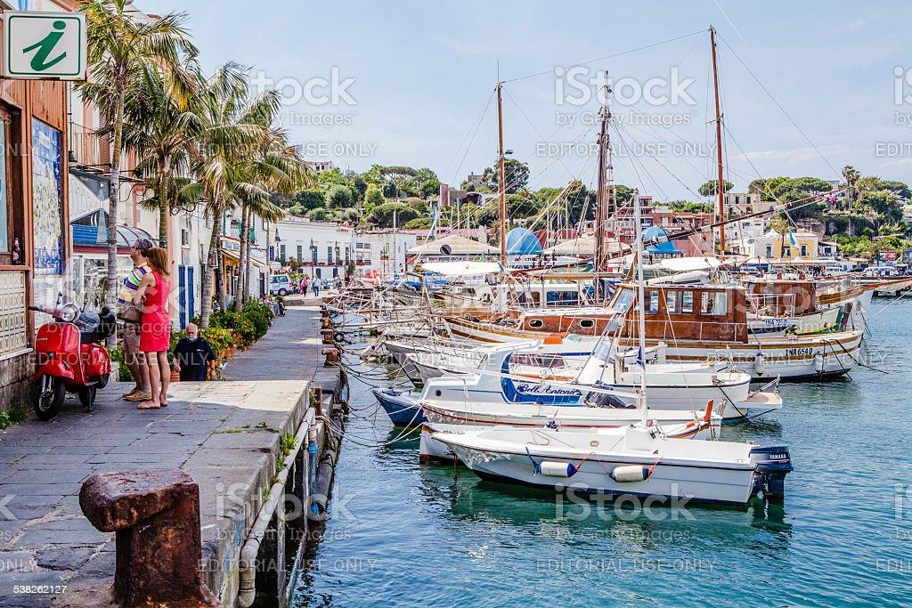 Casamicciola, Ischia Island, Bay of Naples, Italy. stock photo