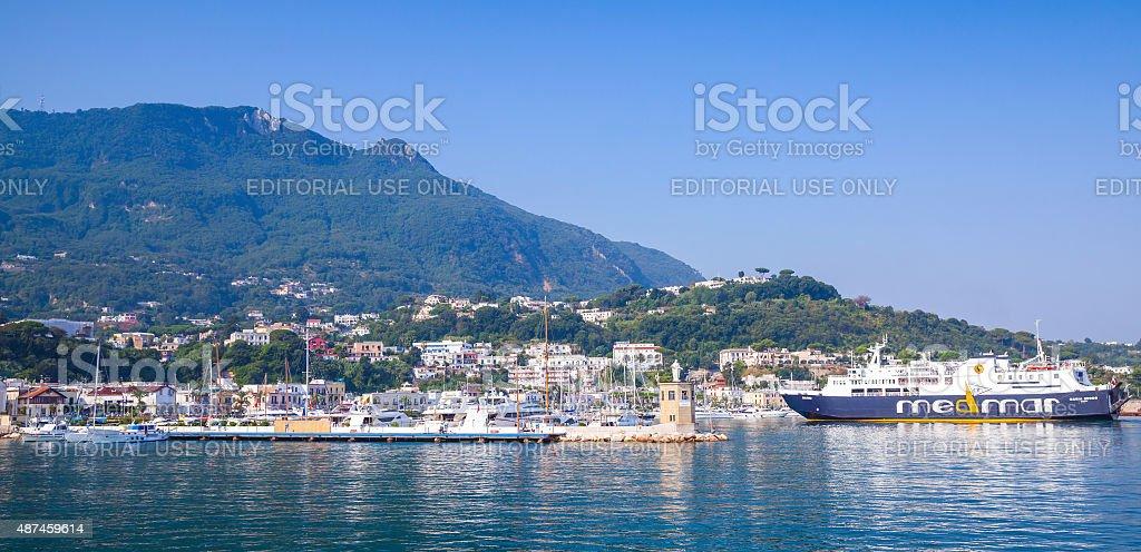 Casamicciola Terme, Ischia, Panoramic cityscape stock photo