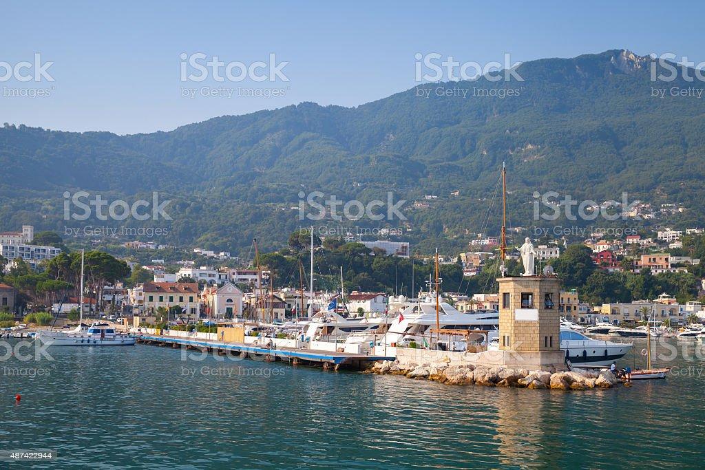 Casamicciola Terme port, Ischia Island, Italy stock photo