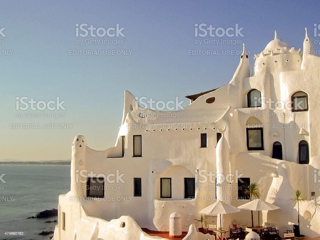 Casapueblo House in Punta del Este stock photo