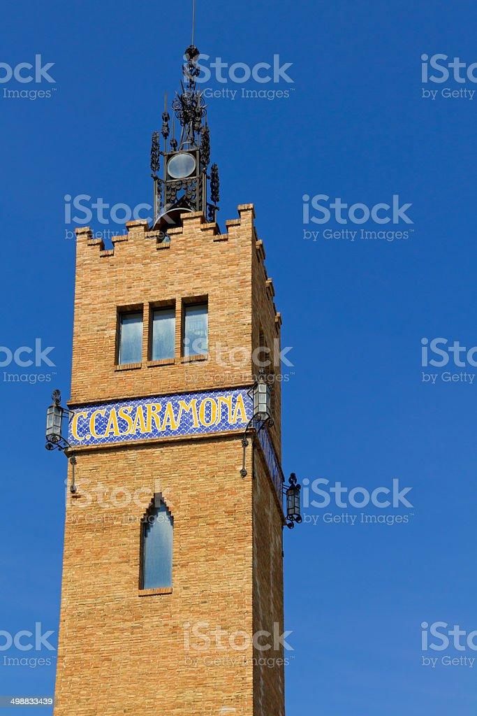 Casaramona Tower royalty-free stock photo