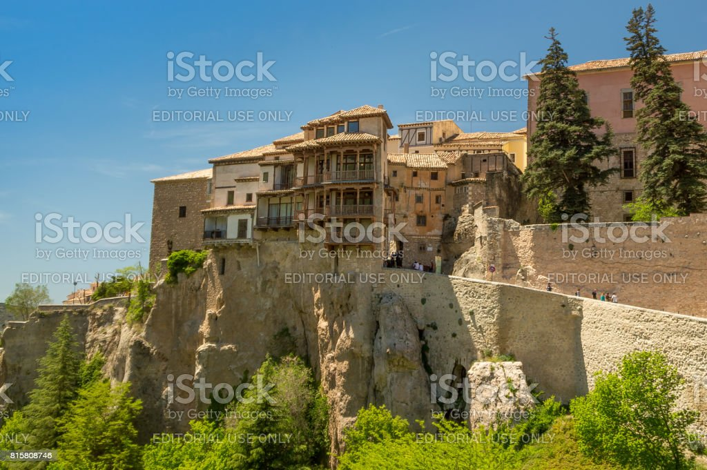 Casas Colgadas Or Hanging Houses In Cuenca, Spain Stock Photo