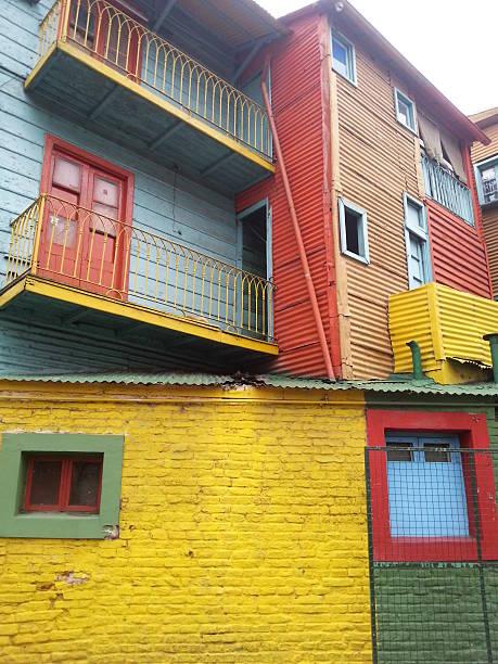Coloridas Casas - foto de stock