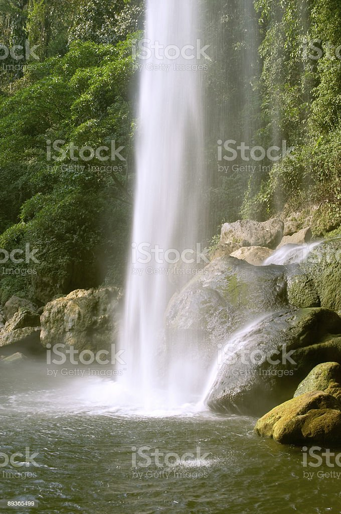 Cascada (waterfall) Misol Ha royalty-free stock photo