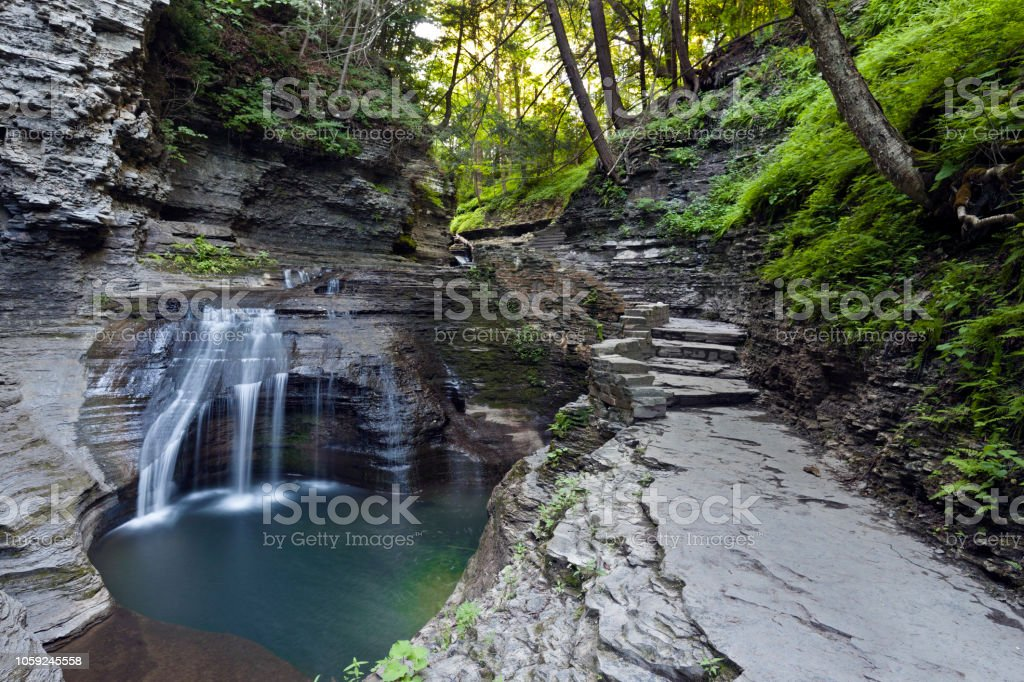 Cascade and Pool stock photo
