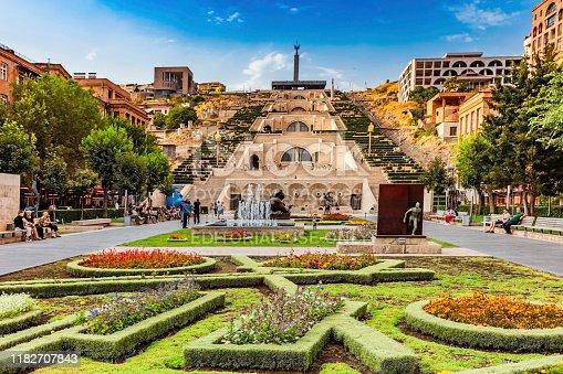 Yerevan , Armenia - August 16, 2019 : Cascade Complex monument landmark of Yerevan capital city of Armenia