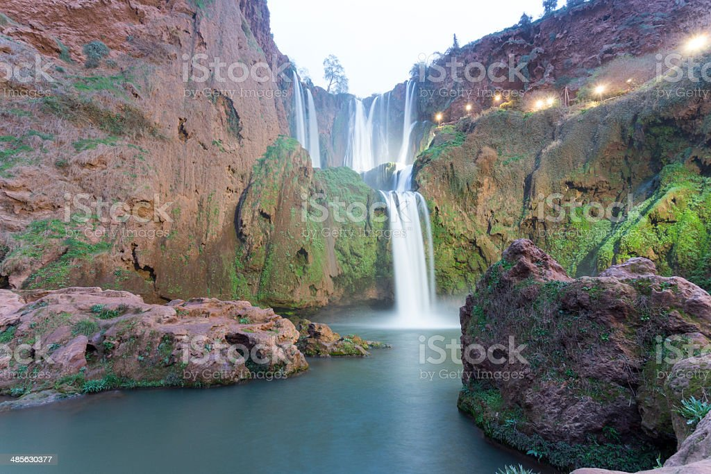 Cascade d'Ouzoud Waterfall in Morocco stock photo