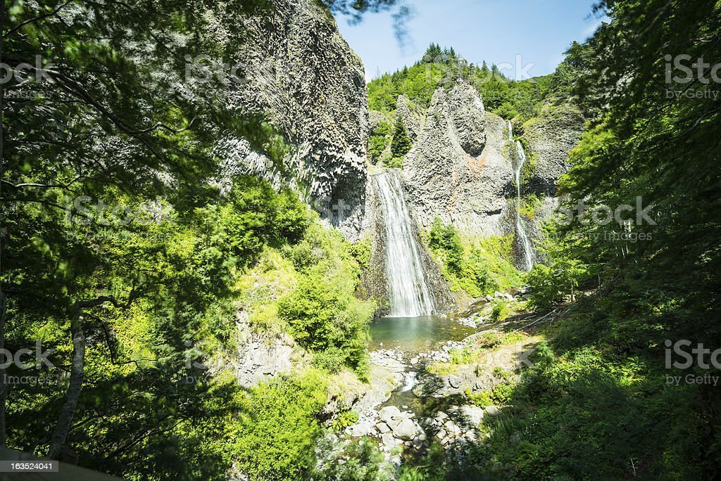 Cascade du Ray Pic, Ardeche, France stock photo