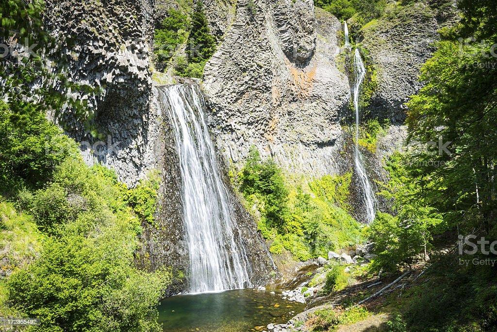 Cascade du Ray Pic, Ardeche, France royalty-free stock photo