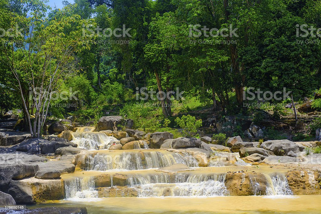Cascade in jungle royalty-free stock photo