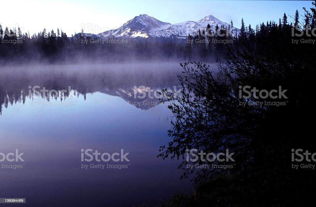 Cascade lake at sunrise royalty-free stock photo