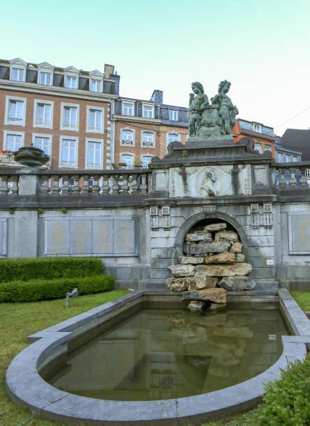 cascade monumentale in spa, belgium - spa belgium stock photos and pictures