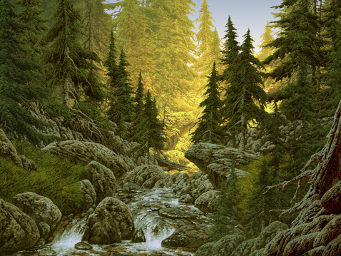 Image from an original painting by Larry Jacobsen. / AF-043