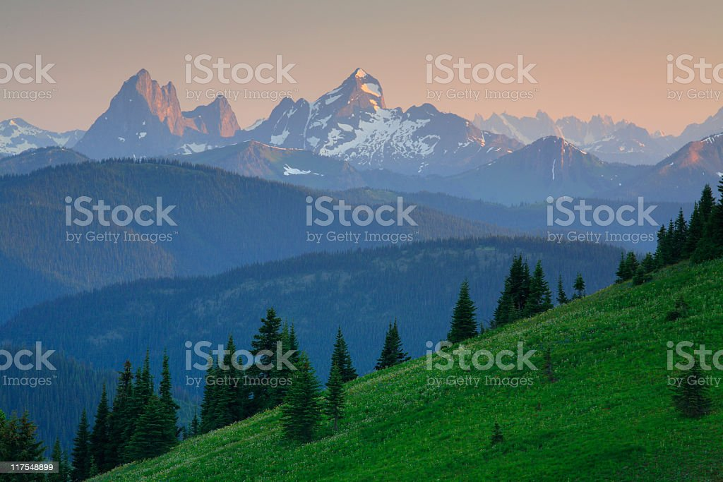 Cascade Mountains, British Columbia royalty-free stock photo