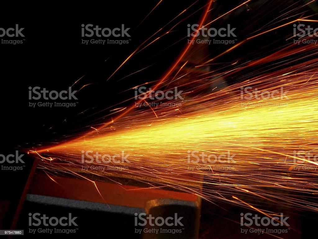 cascade de sparks photo libre de droits