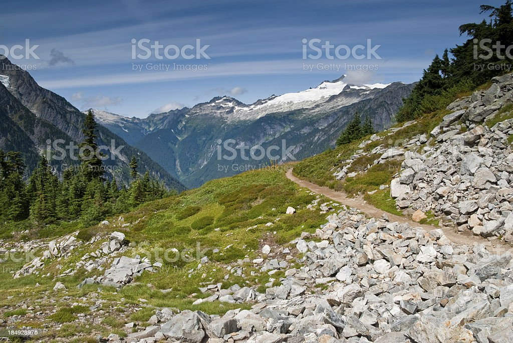 Cascade Pass Trail royalty-free stock photo