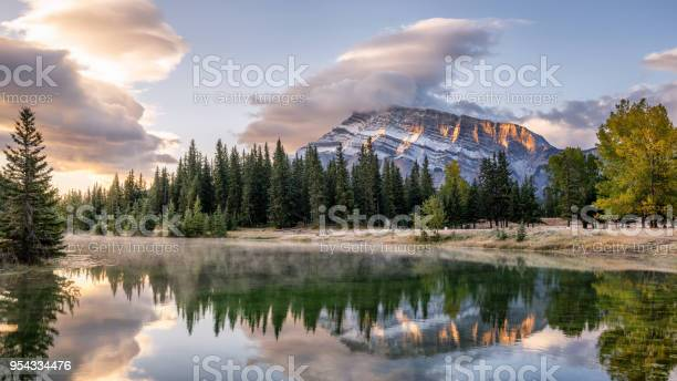 Photo of Cascade Ponds off the Lake Minnewanka scenic drive in the Banff National Park