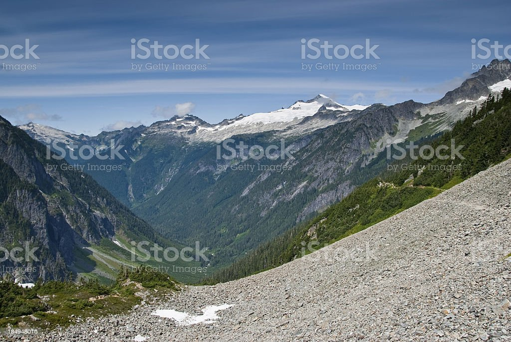 Cascade River Valley royalty-free stock photo