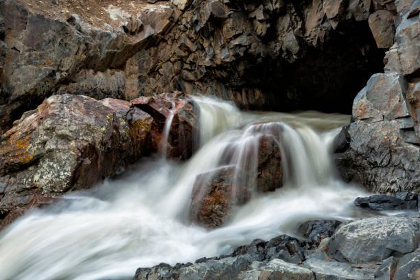 Cascade Tunnel Near Ouray Colorado stock photo