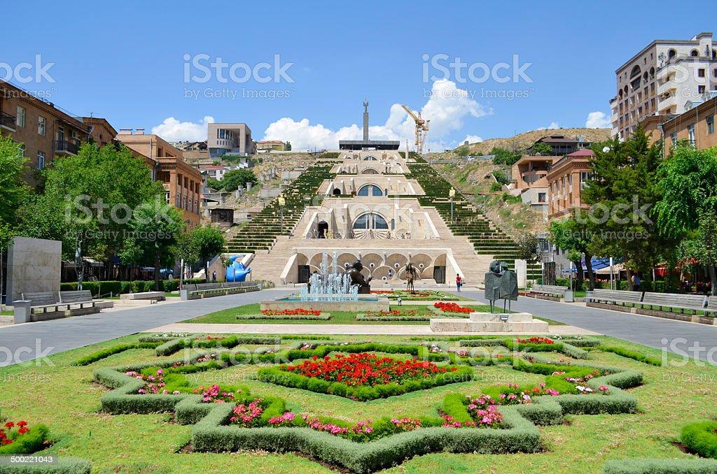 Cascade. Yerevan stock photo