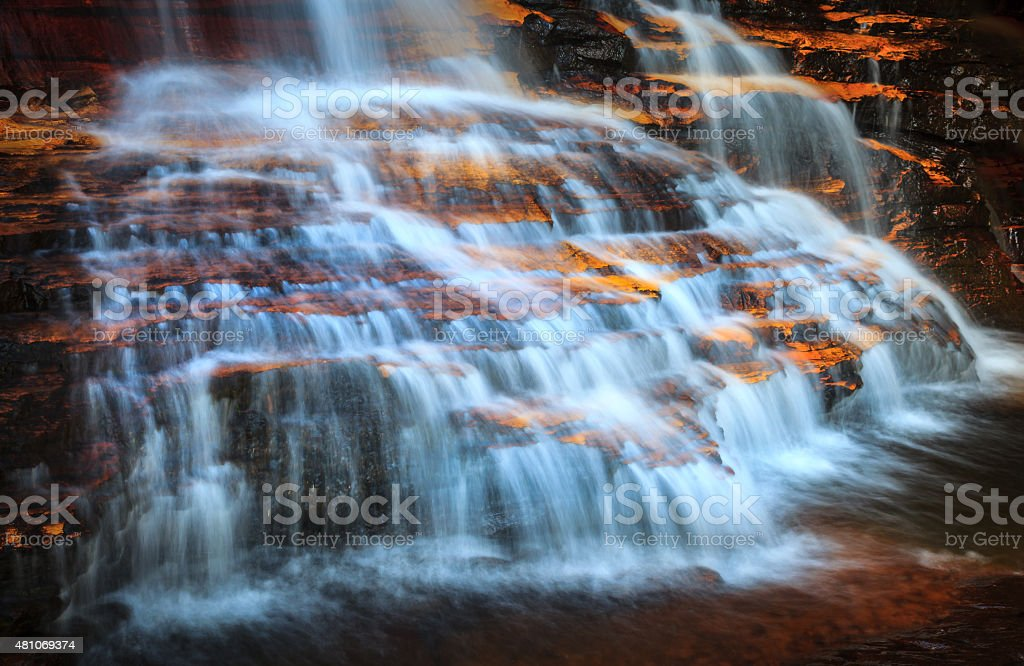 Cascades falls at Wentworth stock photo