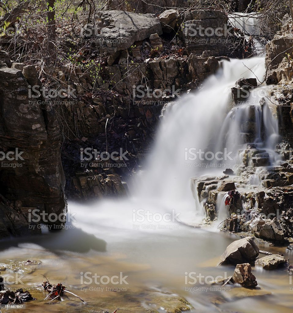 Cascades in a Creek royalty-free stock photo