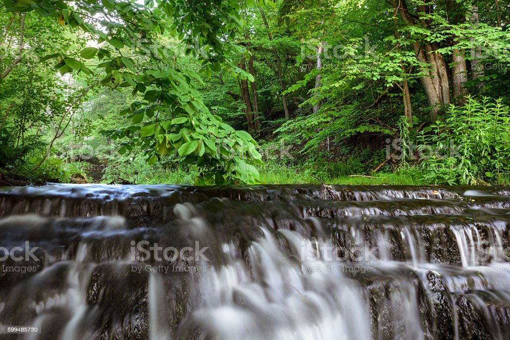 Cascades of water stock photo