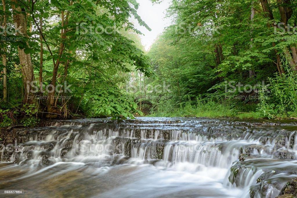 Cascades of waterfall stock photo