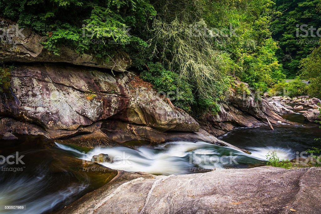 Cascades on the Cullasaja River in Nantahala National Forest, No stock photo