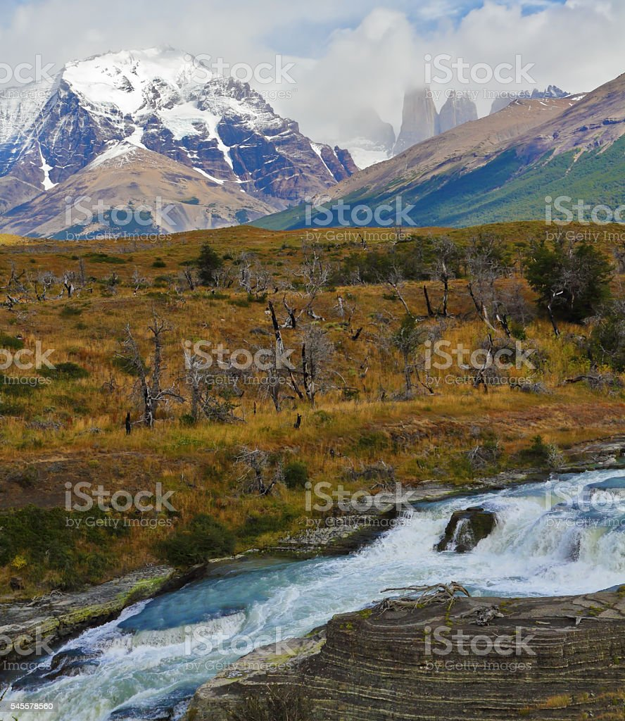 'Cascades Paine.' stock photo