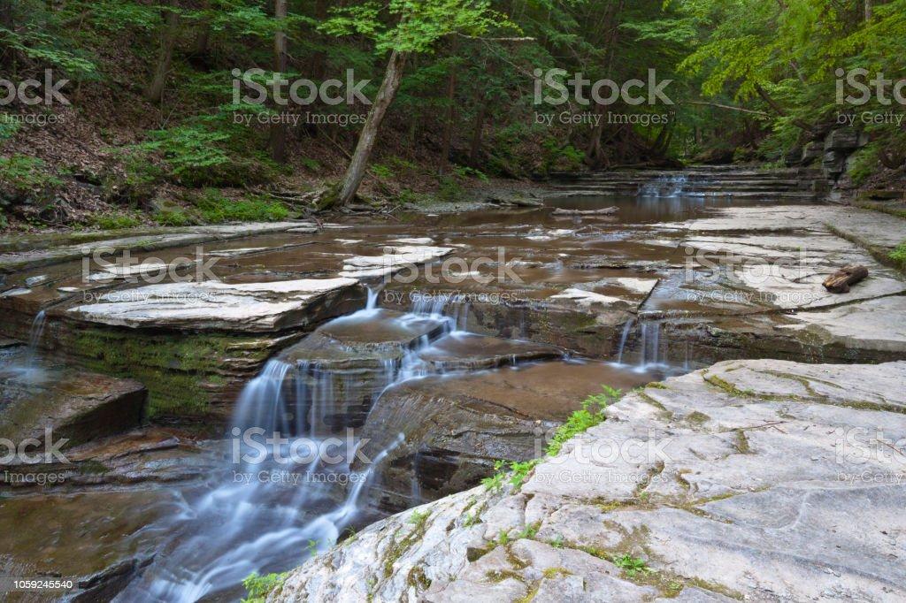 Cascades, Summertime stock photo