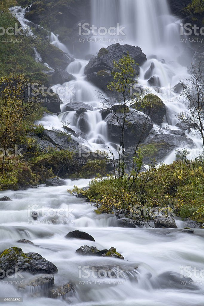 Cascading stream from Norway royalty-free stock photo