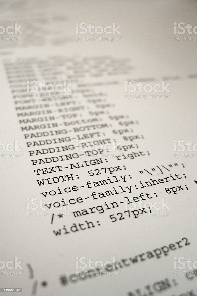 Cascading Style Sheet stock photo