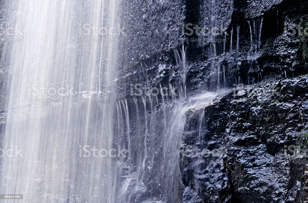 cascading waterfall royalty-free stock photo