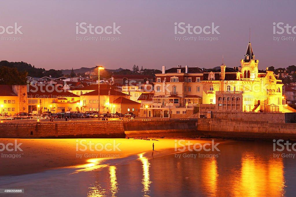 Cascais beach, Lisbon, Portugal stock photo