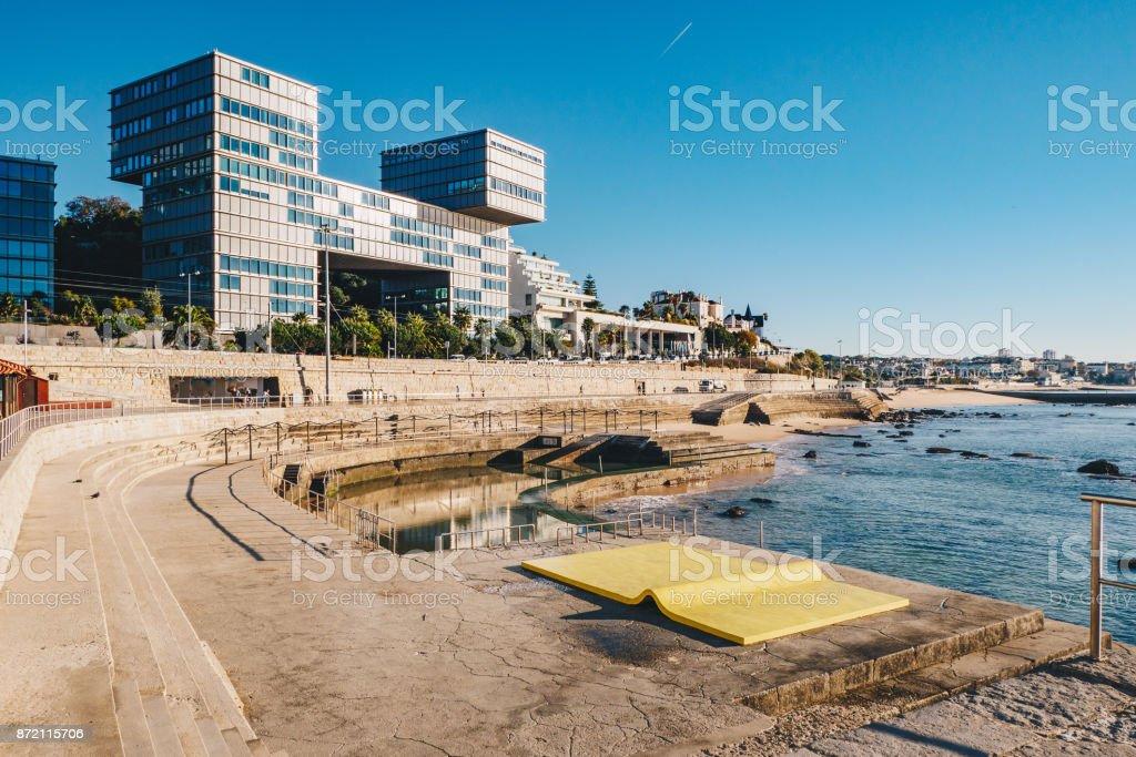 Cascais city modern architecture in Cascais, Lisbon district, Portugal stock photo