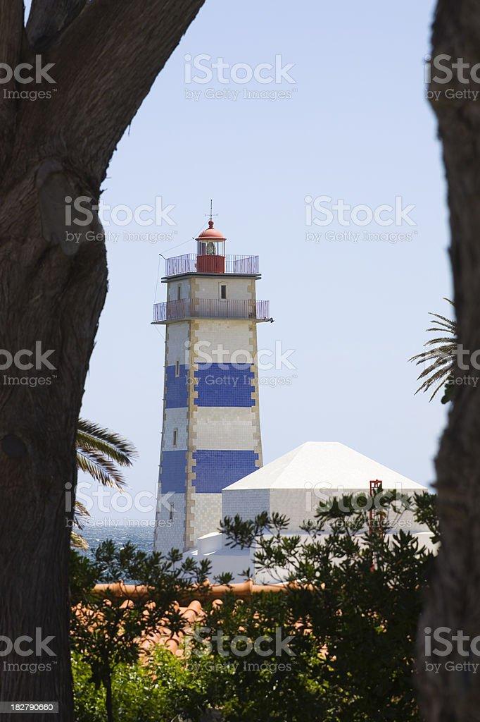 Cascais Lighthouse Portugal stock photo