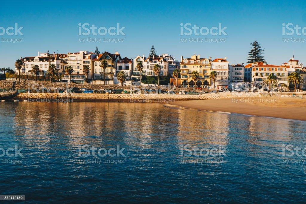 Cascais sea view and beach in Cascais, Lisbon district, Portugal stock photo