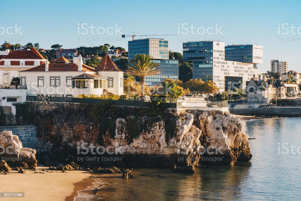 Cascais summer destination in Portugal, near Lisbon stock photo