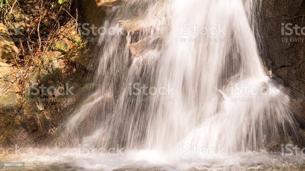 cascata de água cristalina foto royalty-free