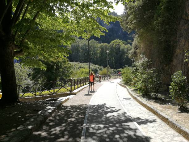 Cascata delle Marmore - Inizio del percorso Terni, Umbria, Italy - 11 September 2019: Cascata delle Marmore from the hiking trail percorso stock pictures, royalty-free photos & images