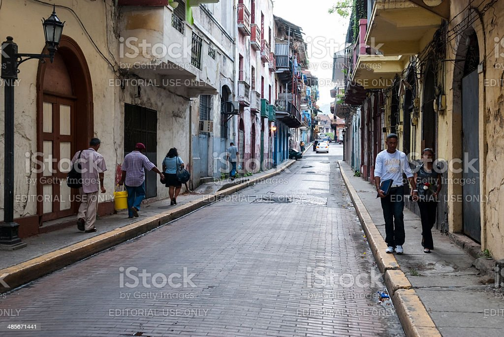 Casco Viejo Panama City royalty-free stock photo
