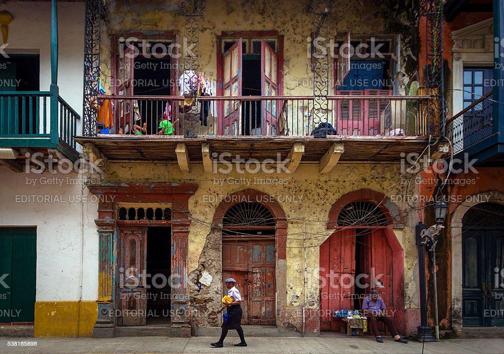 Casco Viejo Panama City stock photo