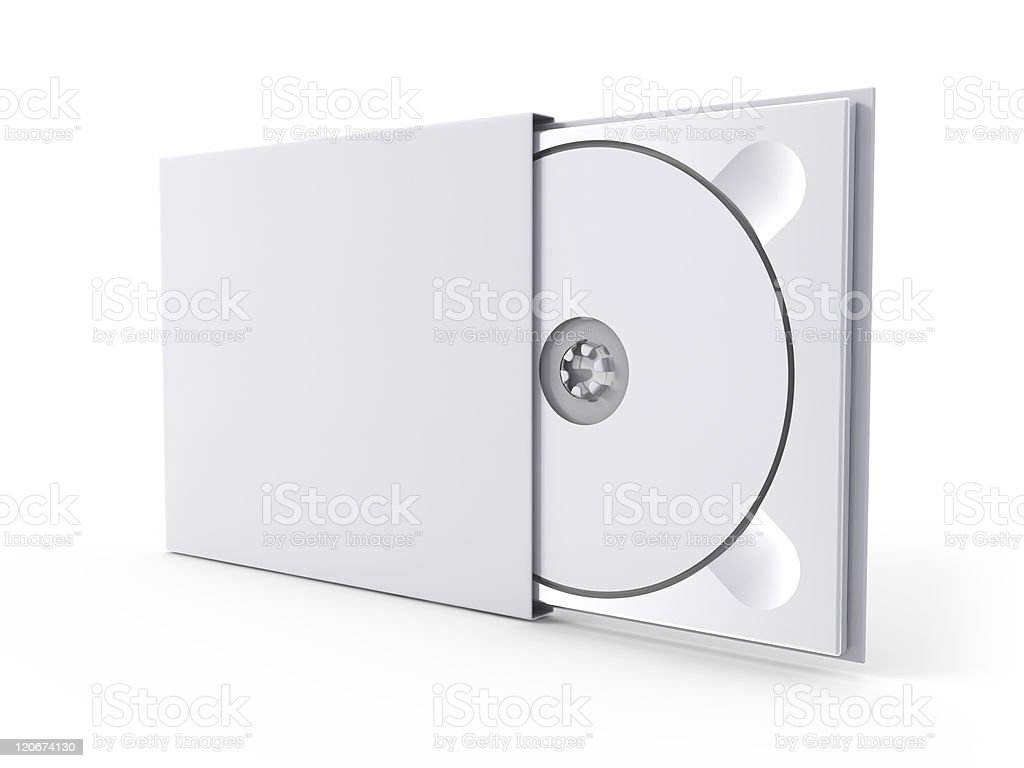 DVD case and disc royalty-free stock photo