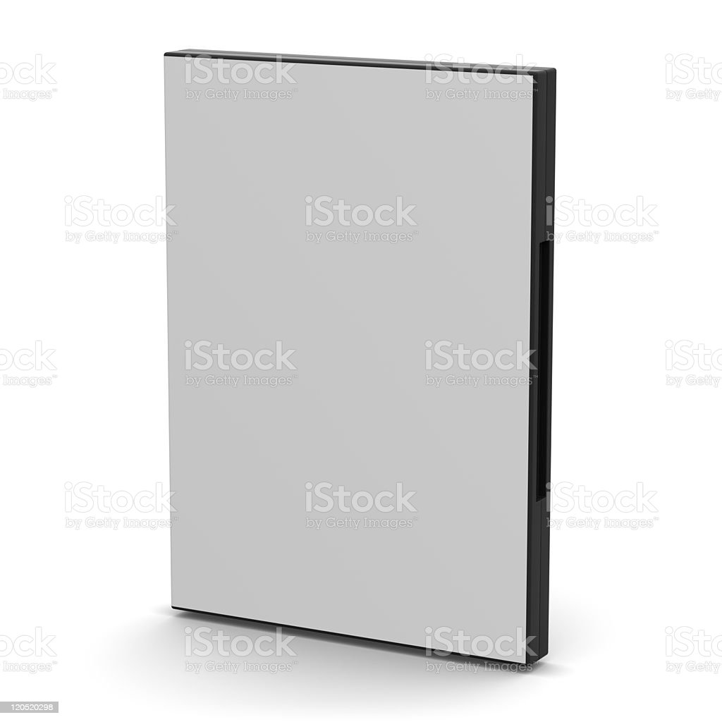 DVD Case - Blank royalty-free stock photo