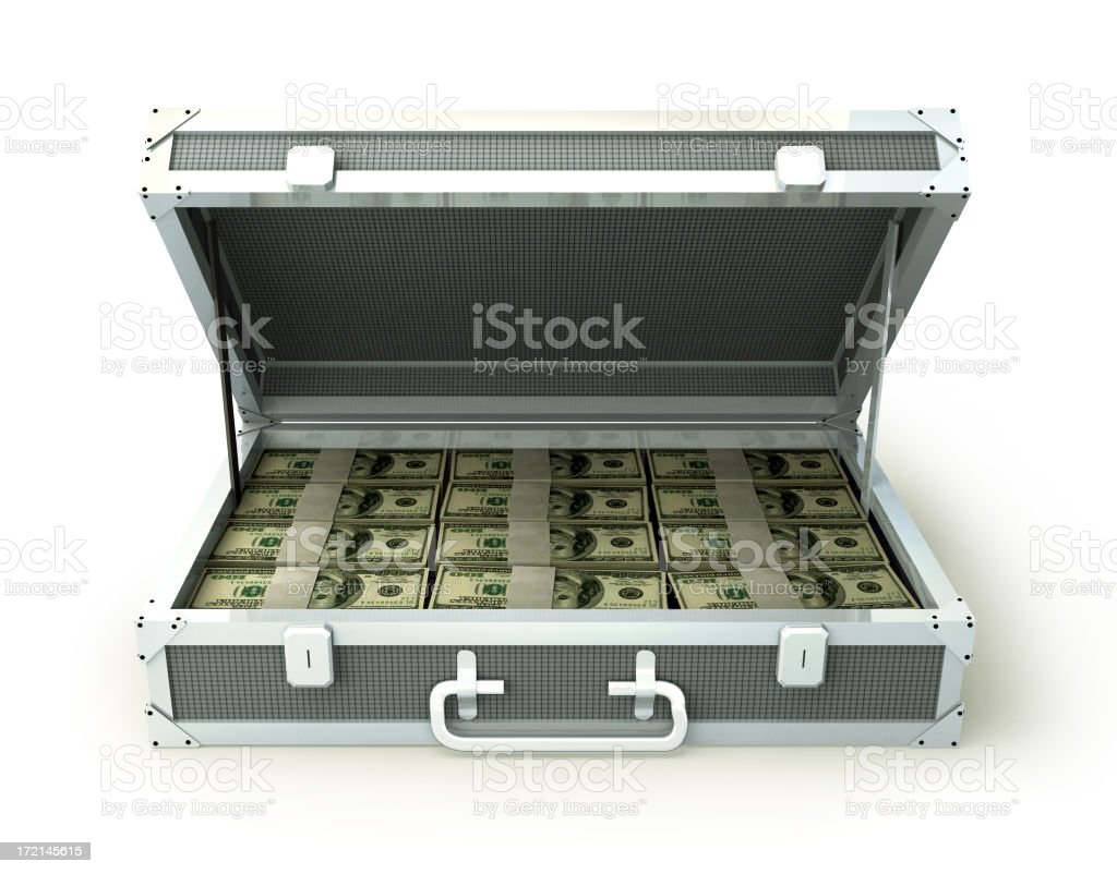 Case full of Cash royalty-free stock photo