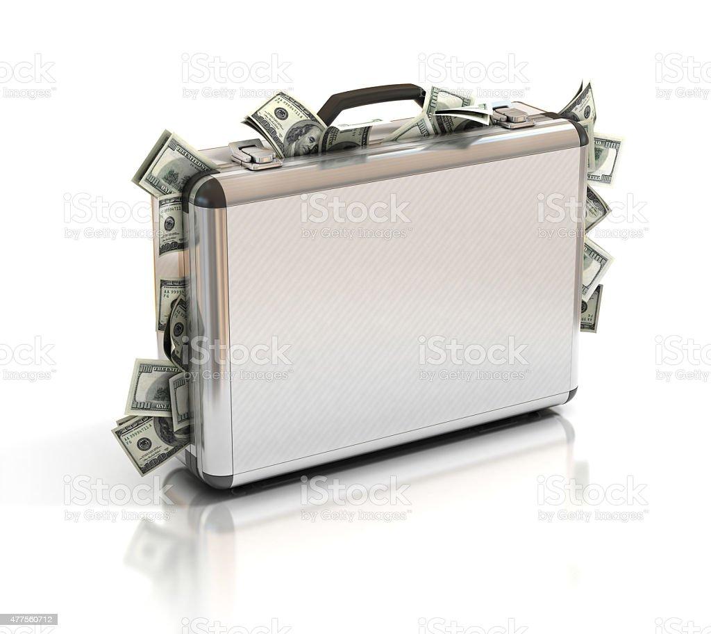 case full of dollar stock photo