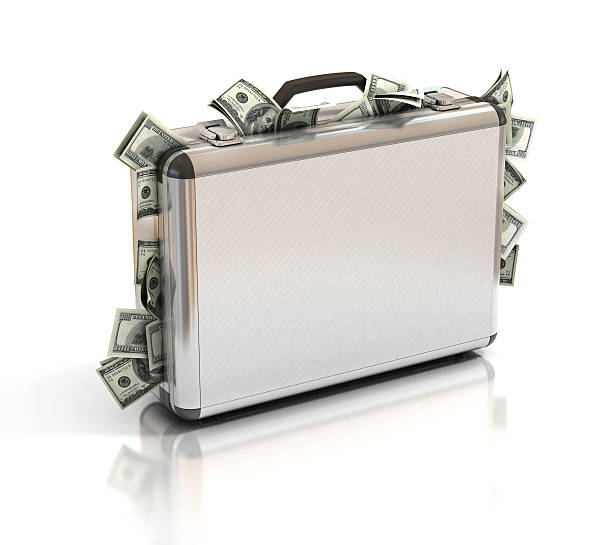 case full of dollar case full of dollar briefcase stock pictures, royalty-free photos & images